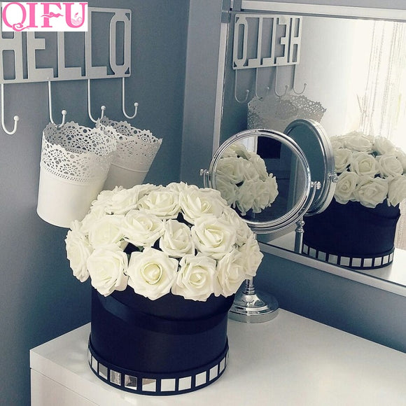 10pcs 8cm Foam Rose Flowers Artificial Flowers Small Rose Wedding Fake Flowers Wedding Bouquet