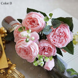 Artificial flowers for wedding decoration Rose Peony Silk small bouquet for marriage ceremony or reception fake Flowers