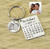 Personalized Calendar Keychains Wedding Favors Keychains Bridesmaids Gift Save the Date