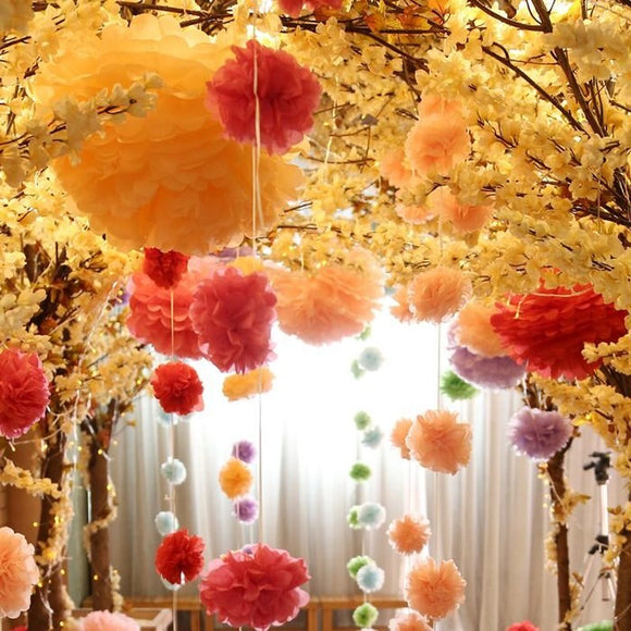 Govaz Wedding Decoration Event Accessories 20 25 30cm Pom Pom Tissue Paper Pompom Ball for Bridal Shower