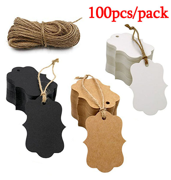 300pcs Kraft paper blank gift tags for Christmas day wedding party favors DIY personalized gift wedding gifts for guests