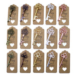50pcs DIY Wedding Decoration 5 Colors Vintage Key Bottle Opener with Thank You Paper Tags Wedding Party Deco Favors and Gifts