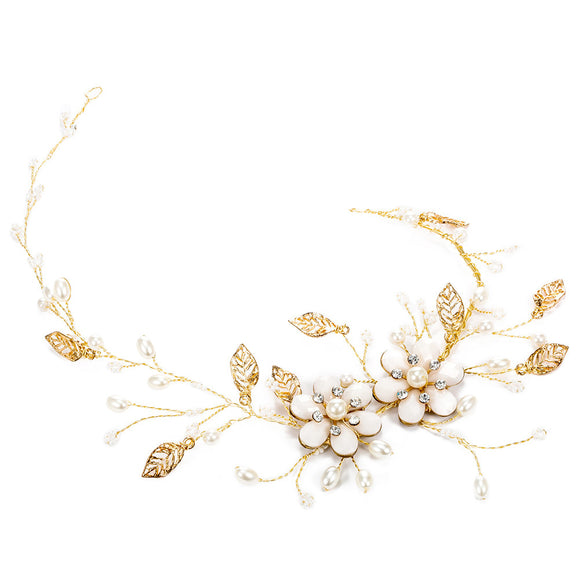 Crystal Flower Bridal Headband