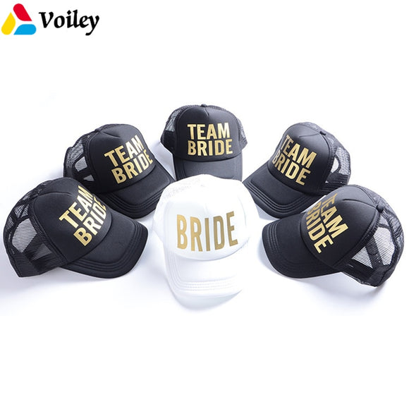 Gold Print Bride Tribe Mesh Baseball Cap