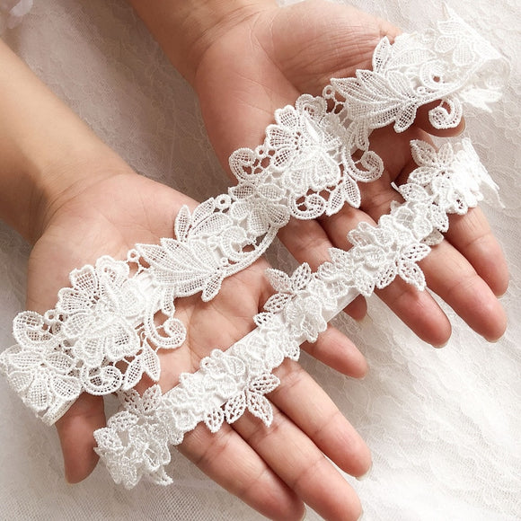 Lace Embroidery Wedding Garter
