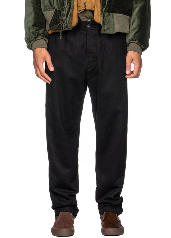 Doug Pant 19FF013 Black Wool Cotton Flannel