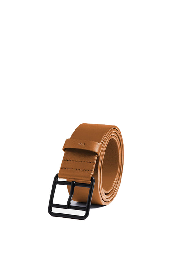 Men's All Leather Khaki Belt