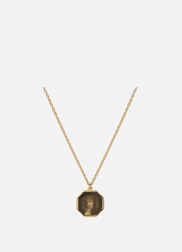 Men's Faceless King Pendant Necklace With Enamel