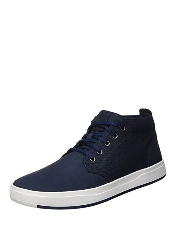Men's Davis Square Leather/Fabric Chukka Navy Nubuck