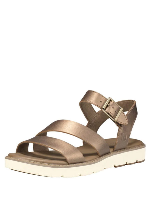 Women's Bailey Park Ankle Strap Sandal Gold Full Grain