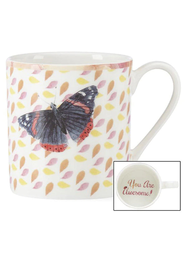 Butterfly Meadow You Are Awesome Mug