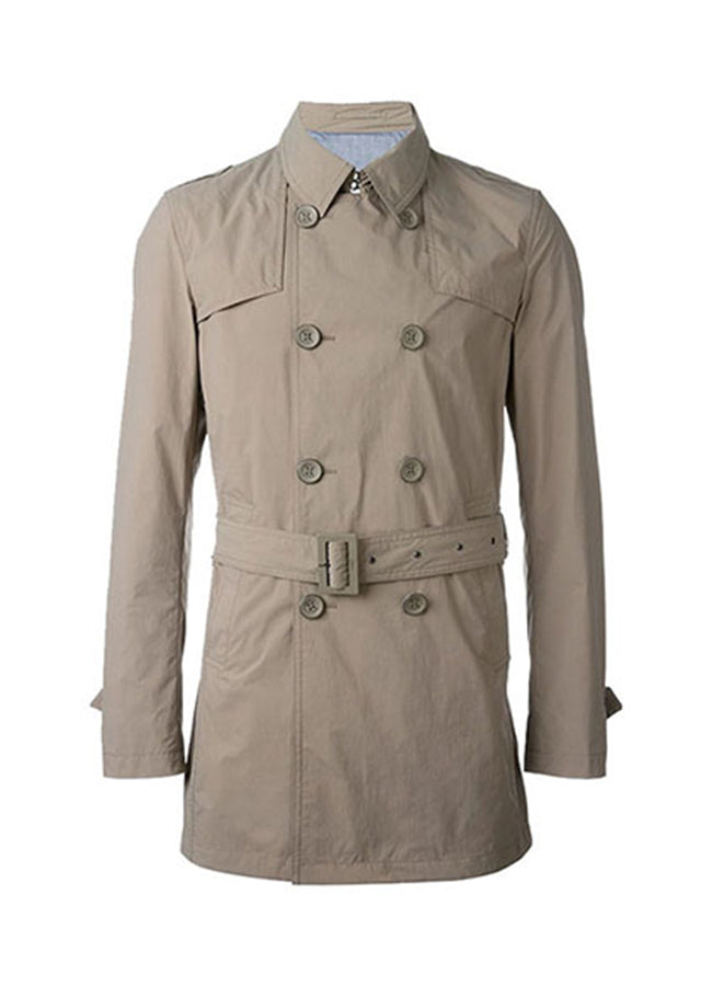 Men's Trench Half Coat