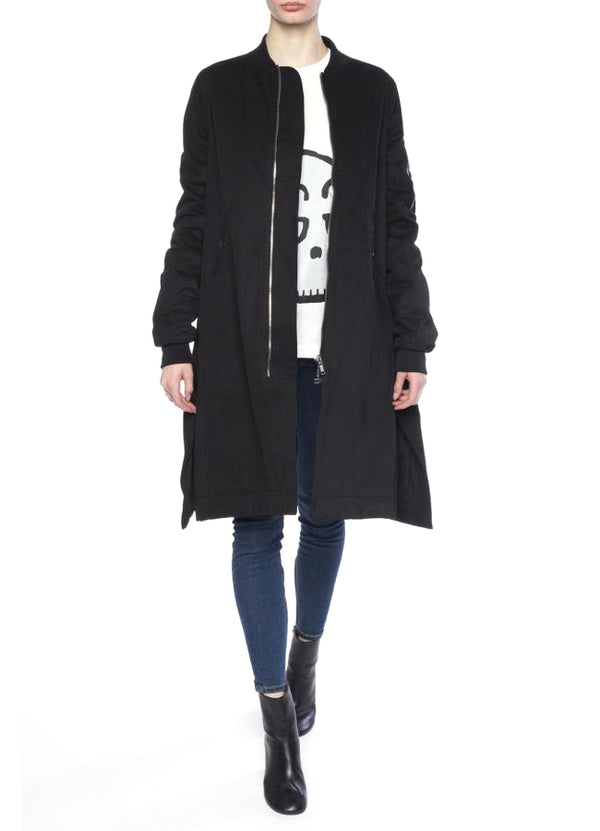 Vicious Flight-Oversize Parka With Slits DS16F8718-MOP