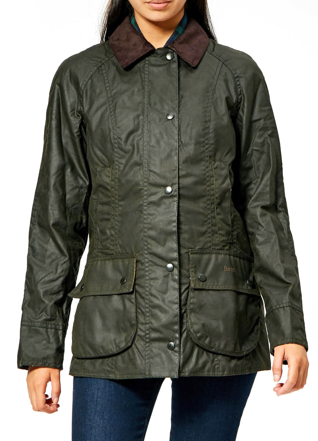 Barbour Beadnell Wax Jacket -Sage