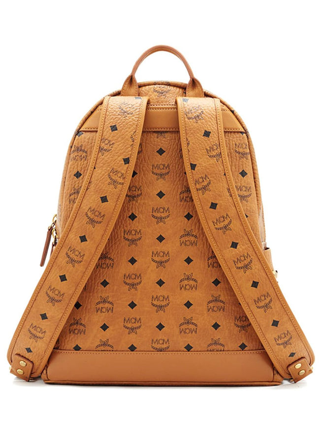 Women's Stark Side Studs Backpack In Visetos MMK6SVE38CO001