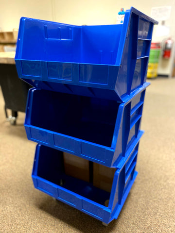 Recycling Storage Bin with Casters