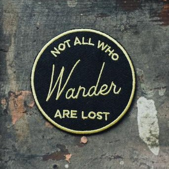 Not All Who Wander Are Lost Compass Embroidered Patch Iron Sew-On Souvenir