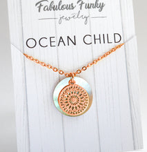 Ocean Child - Filigrane Kette - Rose Gold