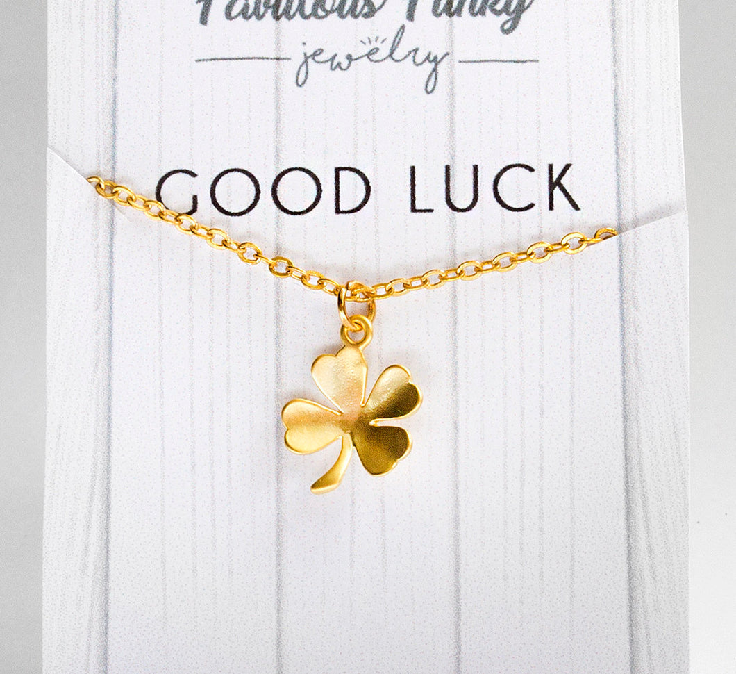 Good Luck - Kleeblatt kette in gold - Blatt