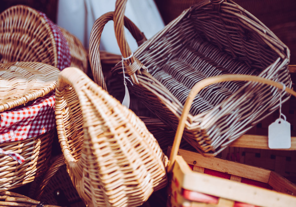 Decorative baskets made of Bamboo