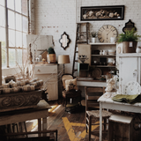 Vintage look interior design with vintage products for office