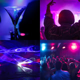 Night parties at a disc or a pub or a club