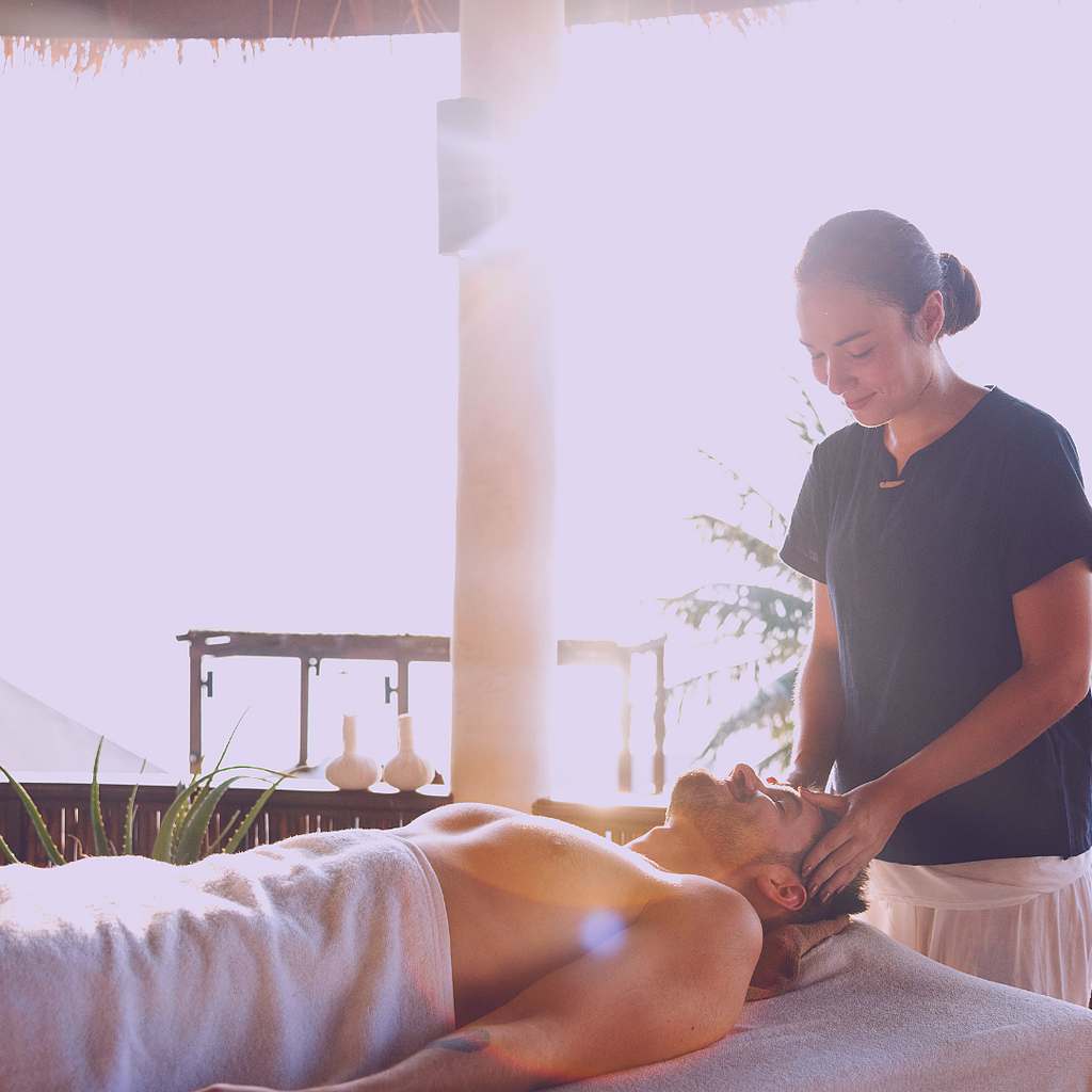 healing touch by a massage therapist