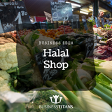 Business Titans is providing the Halal shop business idea for startups.
