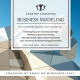 The business titans mobile startup coaching product highlights for the business modeling.