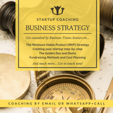 The business titans mobile startup coaching product highlights for the business strategy.
