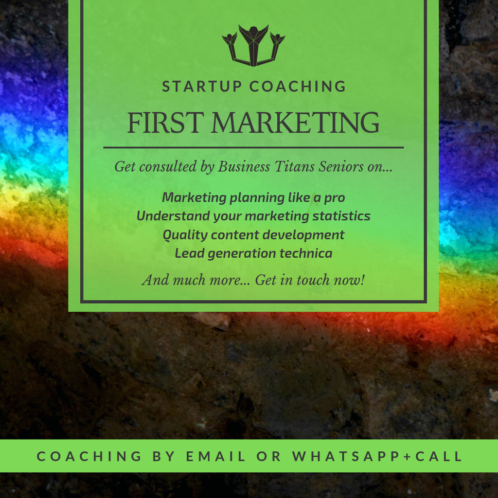 Description of the business titans mobile startup coaching product for the first marketing.