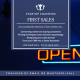 The business titans mobile startup coaching product highlights for the first sales.