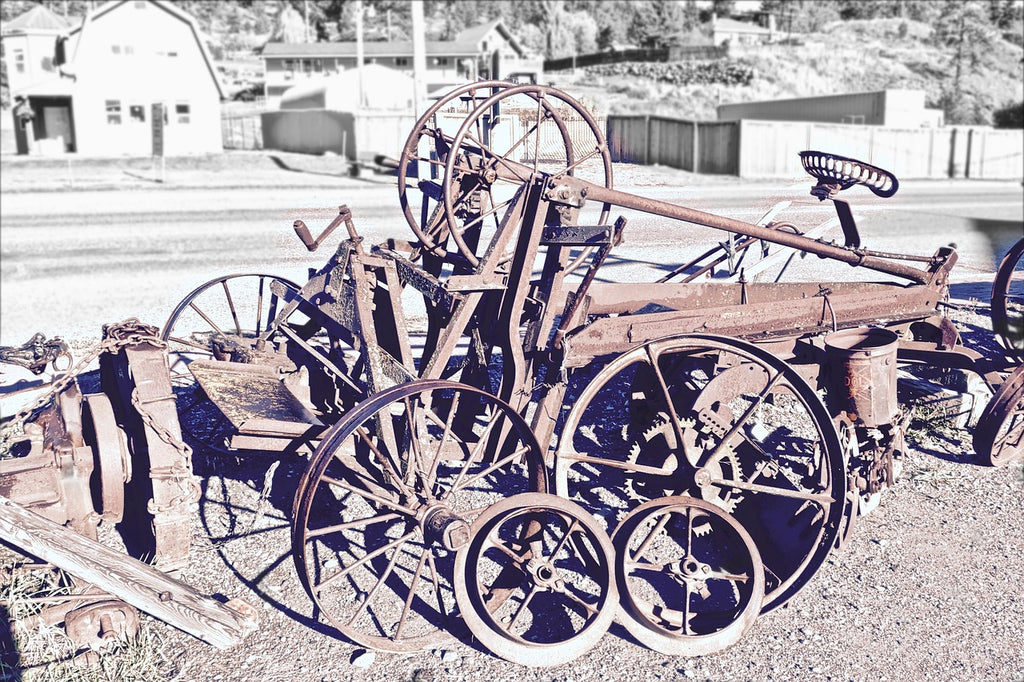 Old vehicle Sculptures