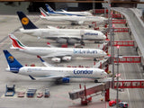Miniature of aeroplanes parked a airport