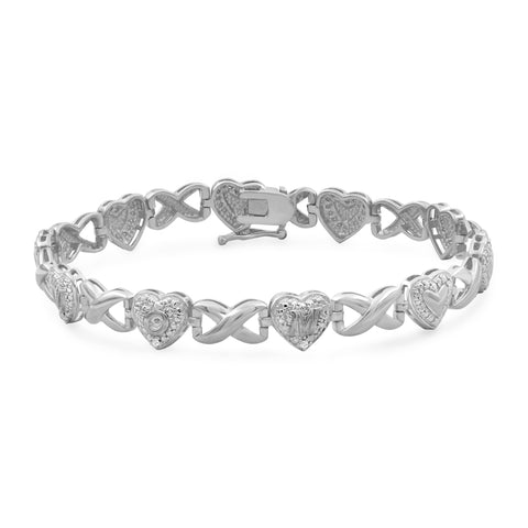 JewelersClub Accent White Diamond Sterling Silver Infinity MoM Bracelet - Assorted Colors