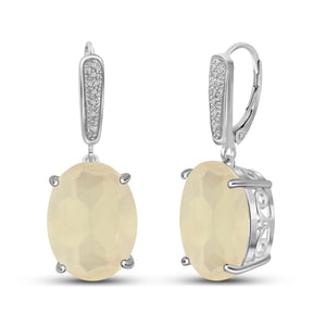 JewelonFire 16.40 Carat T.G.W. Moon Sterling Silver Earrings - Assorted Color