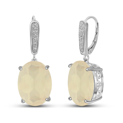 JewelersClub 16.40 Carat T.G.W. Moon Sterling Silver Earrings - Assorted Color