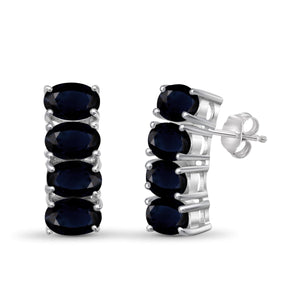 JewelonFire 5.30 Carat T.G.W. Sapphire Sterling Silver Earrings - Assorted Colors