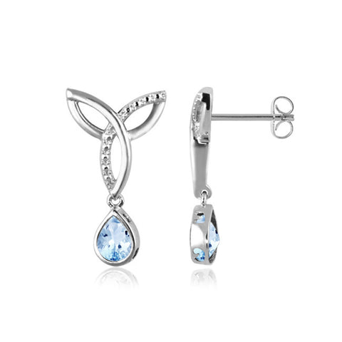 JewelersClub 1 1/2 Carat T.G.W. Sky Blue Topaz Sterling Silver Earrings - Assorted Colors