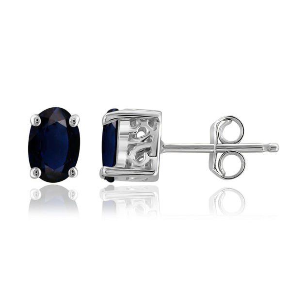 JewelonFire 1.30 Carat T.G.W. Sapphire Sterling Silver Earrings - Assorted Colors