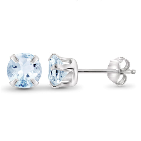 JewelersClub 2.00 Carat T.G.W. Sky Blue Topaz Sterling Silver Stud Earrings