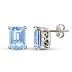 JewelersClub 4.00 Carat T.G.W. Sky Blue Topaz Sterling Silver Earrings - Assorted Colors