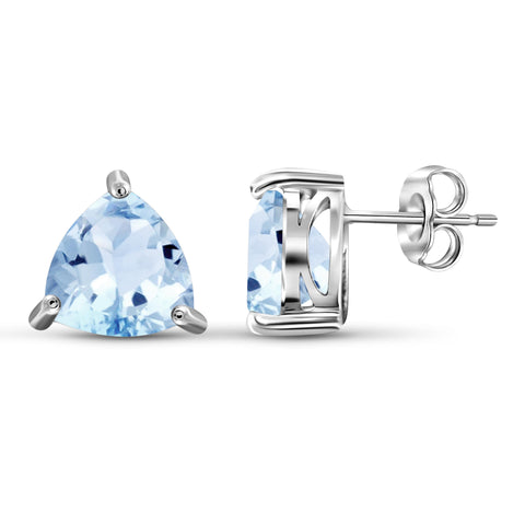 JewelonFire 6 1/2 Carat T.G.W. Sky Blue Topaz Sterling Silver Earrings - Assorted Colors