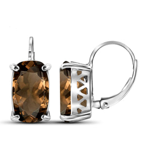 JewelersClub 5 1/2 Carat T.G.W. Smoky Quartz Sterling Silver Drop Earrings - Assorted Colors