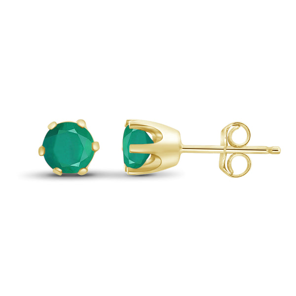 JewelersClub 1/2 Carat T.G.W. Emerald Sterling Silver Stud Earrings - Assorted Colors