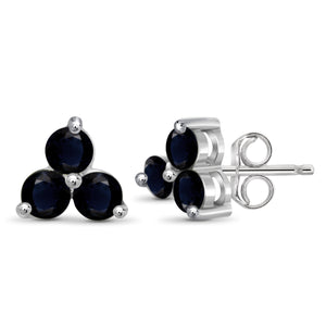 JewelersClub 2 1/4 Carat T.G.W. Sapphire Sterling Silver Stud Earrings - Assorted Colors