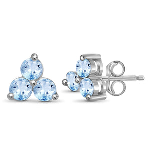 JewelersClub 2.00 Carat T.G.W. Sky Blue Topaz Sterling Silver Stud Earrings - Assorted Colors