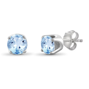 JewelersClub 1.20 Carat T.G.W. Sky Blue Topaz Sterling Silver Stud Earrings - Assorted Colors