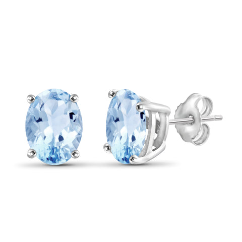 JewelersClub 3.20 Carat T.G.W. Sky Blue Topaz Sterling Silver Stud Earrings - Assorted Colors
