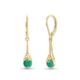 JewelersClub 0.95 Carat T.G.W. Genuine Emerald Sterling Silver Dangle Earrings - Assorted Colors